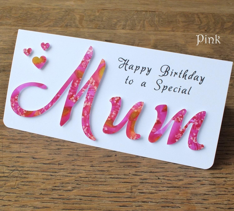 Mum Birthday Card Birthday Card for Mum Mother Birthday – Mum 65th Birthday Card