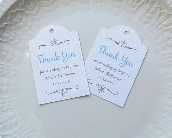Tagged Messages: Baptism Favor Tag Personalized Gift Tags Confirmation First