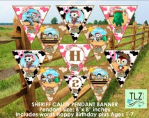 Sheriff Callie Banner - Printable Digital File Instant Download