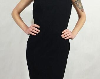 Vintage Black Tassel Dress