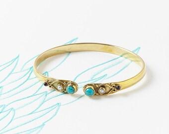 Gemstone Bracelets,Stacker bracelet,Turquoise bracelet,Boho Bracelets,Birthstone Bracelets,Statement Bracelet,Boho Jewelry,Bangle JB036