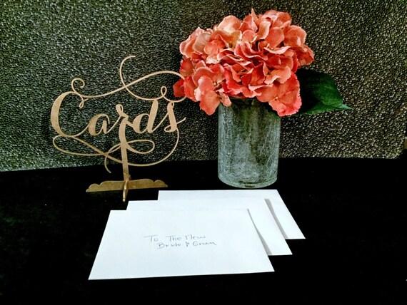 Wooden Signage, Baby Shower Signage, Bridal Shower Sign, Wooden Wedding Sign, Gold Wedding, Rose Gold Wedding, Laser Cut Cards Sign
