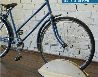 Bicycle stand, Bike holder, Bicycle rack, wooden bike accessories