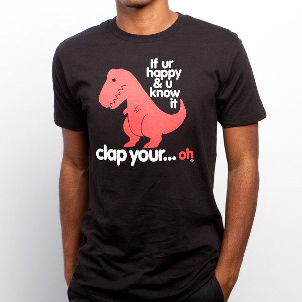 Fabuleux Sad T Rex GT2339-101BLK Men's T-shirt. Dino shirt funny SF49