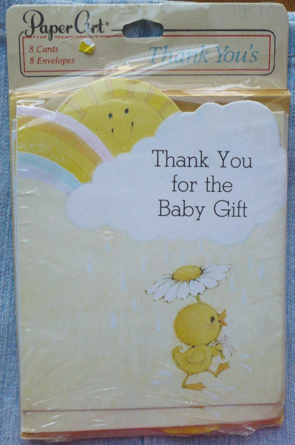 Baby Gift Card Thank You Note : Vintage paper art co baby gift thank you cards note in