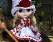 Blythe Doll Crochet Pattern Victorian Top Hat PDF Instant Download