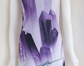 Amethyst Crystal Dress - Purple Healing Quartz Cluster - New Age Rock- Meditation - Aura Purification - Purple Mineral Dress