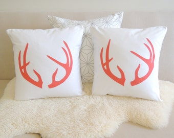 Antler Pillow Cover Pair - Modern Chalet