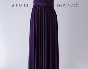 Dark Purple Grape LONG Floor Length Ball Gown Maxi Infinity Dress Convertible Formal Multiway Wrap Dress Bridesmaid Dress Evening Dress Prom