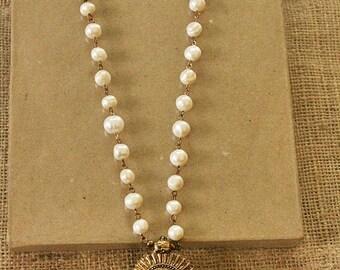 Bohemian Tribal Pearl Long Necklace
