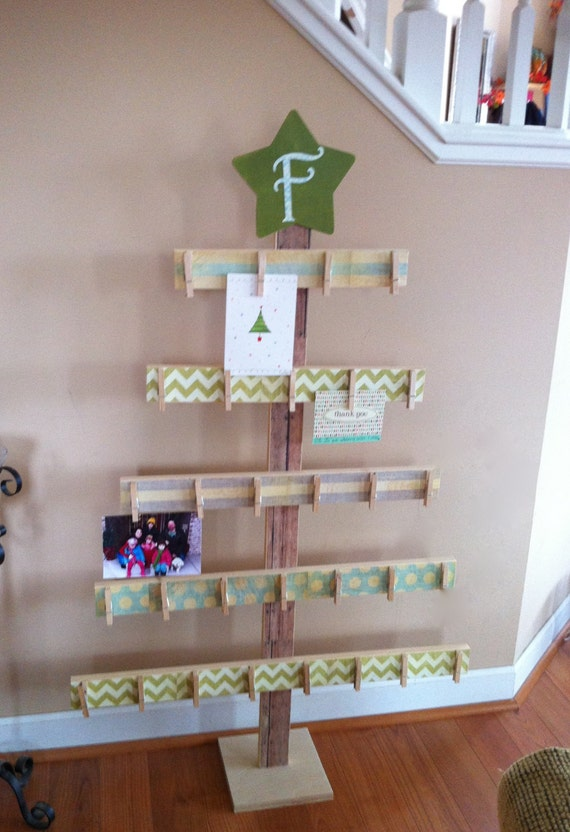 Items similar to Tree card holder, 4ft card holder, rustic ...