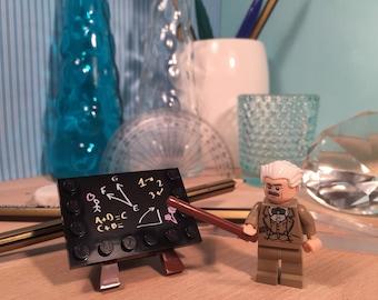 Albert Einstein Science Education Lecturer Teacher LEGO Custom Minifigure Art Gift
