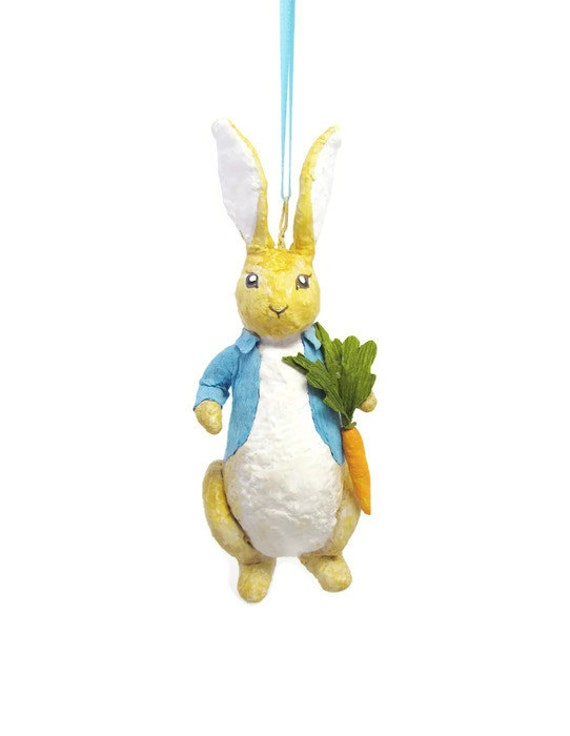Made to order peter rabbit spun cotton christmas ornament for Order christmas decorations