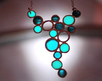 Little BUBBLES Necklace GLOW in the DARK