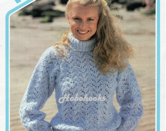 King Cole Knitting Patterns To Download : Womens Knitting Pattern K4268 Ladies EASY KNIT Long Sleeve V-Neck Jumper Knit...