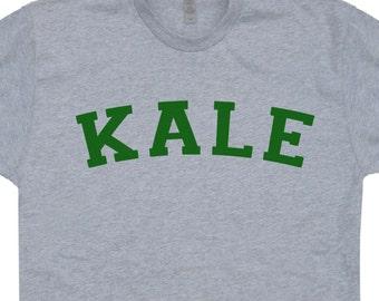 Kale T Shirt Vegetarian T Shirt Vegan T Shirt University Yoga T Shirt Recycle t shirt Organic food tshirt mens womens kids Retro Tees