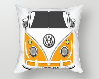 Cute Volkswagen Fox 18 x 18 Pillow Cover - One Pillow Cover with insert - Accent Pillow - Decorative Pillow - Throw Pillow Cover Case