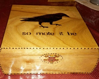 So mote it be crow/raven box