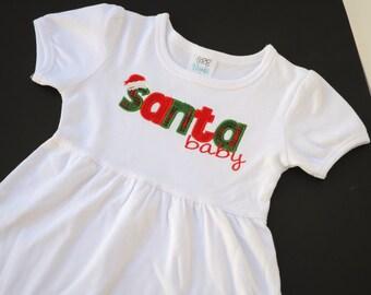 Santa Baby empire waist dress