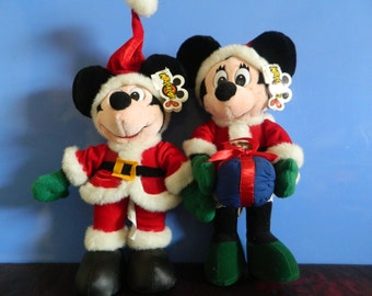 Christmas Mickey Mouse And Minnie Mouse
