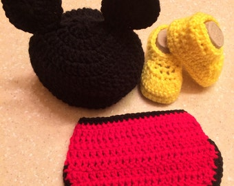Mickey Mouse photo prop outfit