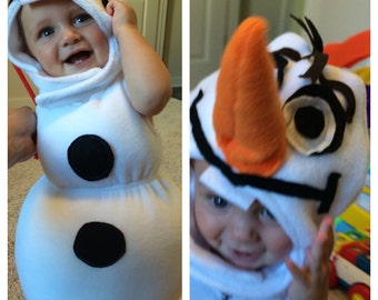 Olaf inspired frozen costume for ba bies / toddlers!