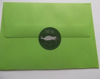 Set of four SEAL envelope stickers