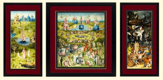 The Garden Of Earthly Delights By Bosch 3 Framed Finest