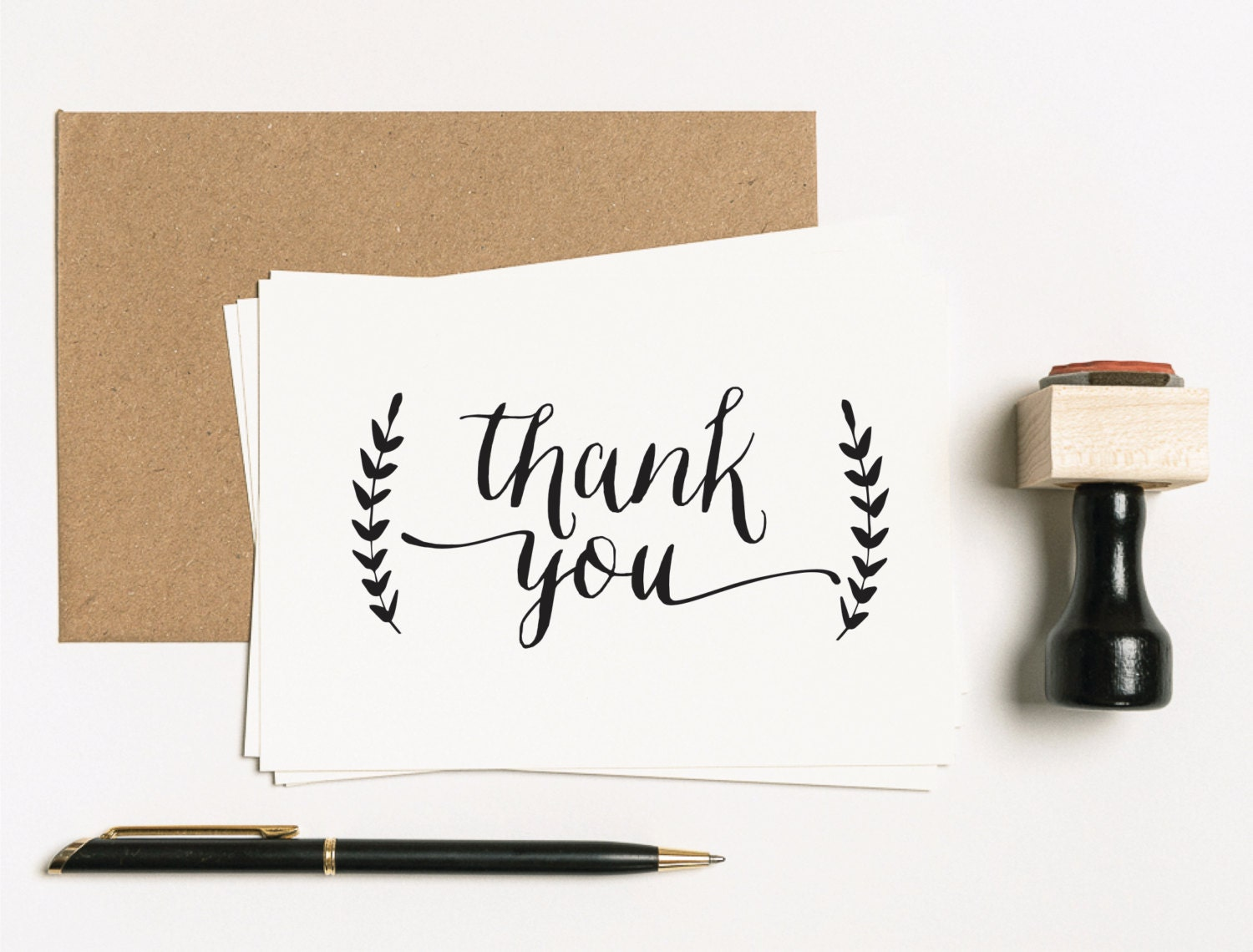 Thank You Favor Stamp Thanks You Rubber Stamp Wedding Stamp