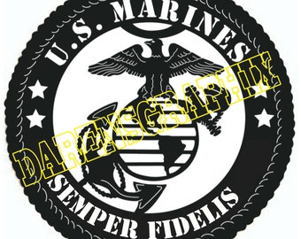 DXF File Of the Marine emblem for use with a CNC machine