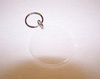 Blank Round Acrylic Keychains