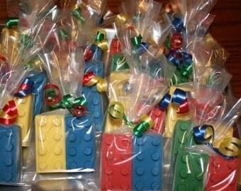 20 Chocolate BUILDING BLOCKS BRICKS Party Favor Bags