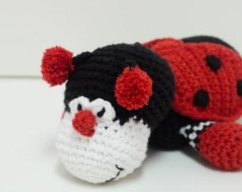 Large Crochet Toy - Ladybug - Amigurumi style - Hand Crafted - Homemade toys - Kids Toys