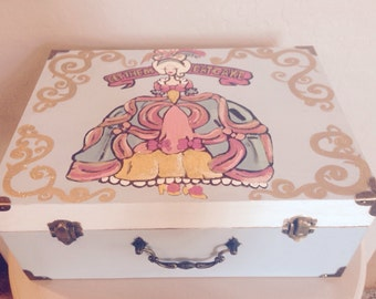 Hand Painted Marie Antoinette Jewelry Box