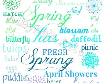 Spring digital download printable art 8x10