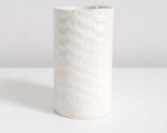 Hand Built Ceramic Patterned Cup/Vase