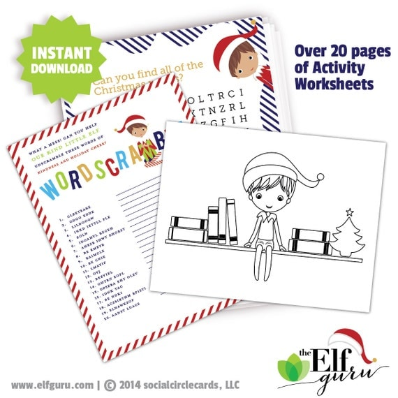 Elf On The Shelf Activity Worksheets