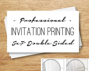 Professional Printing Services, P27Creative Invitation Printing, Double Sided Full Color, Matte or Linen