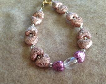 Heart shaped beaded bracelet