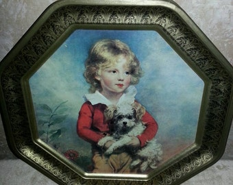 Tin boy with puppy
