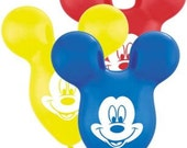 """Pack of Three: 15"""" Qualatex Mickey Mouse Ear Latex Balloons- 1st Birthday, Shower, Wedding, Grad, Prom, Party Decorations, Kindergarten"""
