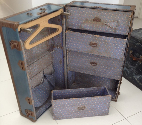 items similar to vintage steamer trunk on etsy 87960