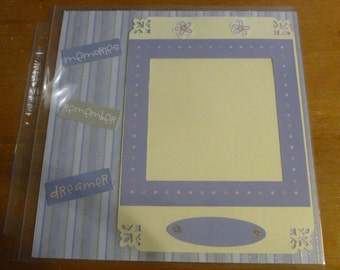Baby/Child Premade 8x8 Scrapbook pages *3- 2 page layouts*Girl or Boy