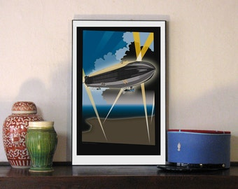 "1914 Imperial German Zeppelin 11""w x 17""h Print"