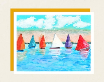 "Note Cards - Box Set of 8 -  ""Sails"""