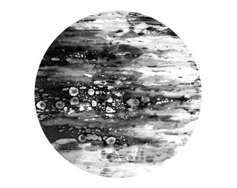 Minimalist art print, black and white modern art, geometric art print, astronaut wall decor 6 x 6