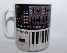 Custom Printed Roland SH-01 GAIA Synth Synthesizer Keyboard producer Mug / Mugs perfect for a Gift DJ Kitchen Work Office Studio Cup
