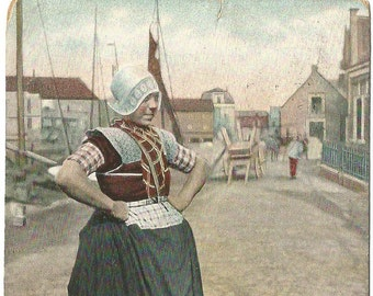Dutch Women - Bunschoten, Willemje, Netherlands  -  Antique 1905 Postcard
