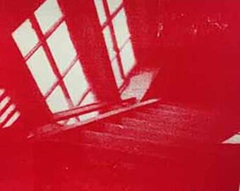Red Stairs (2012): original screenprint