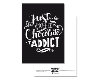 Postcard A6 // Just another chocolate addict
